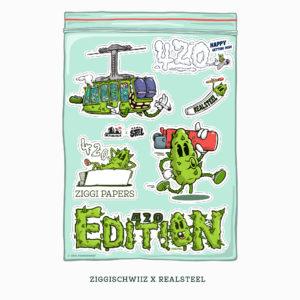 Ziggi Schwiiz x Realsteel 420 Edition Stickerbogen